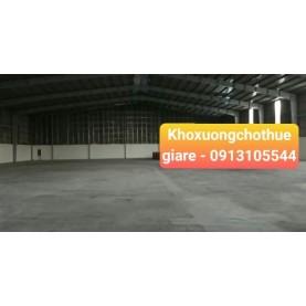 Cho thuê kho xưởng 2300m2 tại Bình Chuẩn