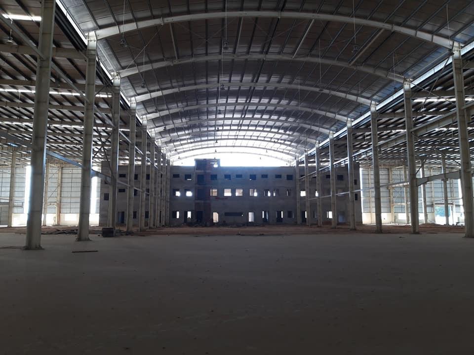 Diện tích nhà xưởng cho thuê bên trong