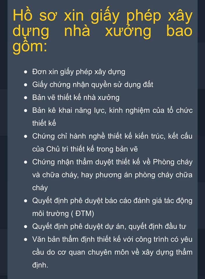 Hồ sơ xin giấy phép xây dựng nhà xưởng - Toàn Việt Real.