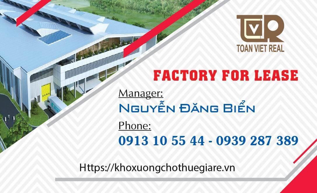 Cho thuê kho xưởng TP HCM
